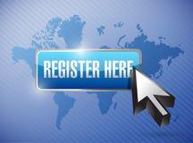 Register hier knöpfen und Cursor lizenzfreie abbildung