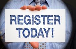register i dag royaltyfria foton