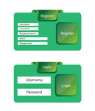 Register and login template Royalty Free Stock Photography