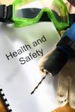 Register med skyddsglasögon royaltyfri fotografi