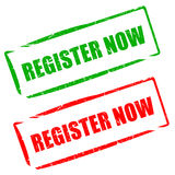 Register now Stock Photography