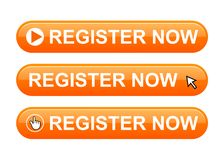 Register now button royalty free illustration