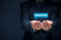 Register now Stock Photo