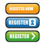 Register now design. Stock Image