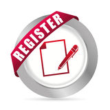 Register now design. Stock Images