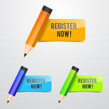 Register Now Icon Royalty Free Stock Photo