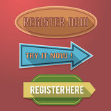 Register Now Label Royalty Free Stock Photography