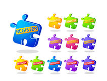Register Now Puzzle Icons Royalty Free Stock Image