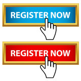Register now set Royalty Free Stock Image