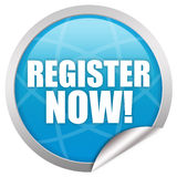 Register now sign Royalty Free Stock Photography