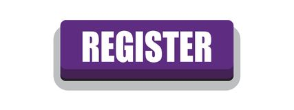 Register now button. Register now web button illustration on isolated white background stock illustration