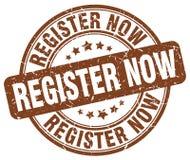 Register nu bruine zegel Royalty-vrije Stock Foto
