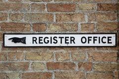 Free Register Office Sign Stock Photography - 87878072