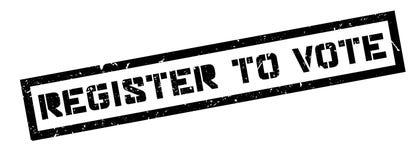 Register om over rubberzegel te stemmen Stock Fotografie