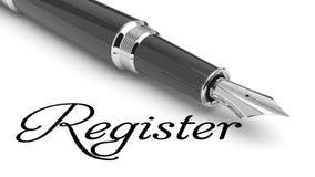 Register online Stock Foto's