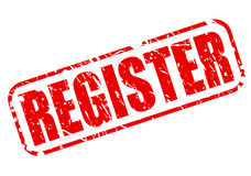 REGISTER red stamp text Royalty Free Stock Photo
