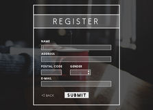 Register Registration Royalty Free Stock Photography