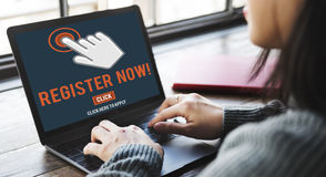 Register Registration Enter Apply Membership Concept.  Royalty Free Stock Image