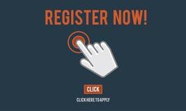 Register Registration Enter Apply Membership Concept. Register Registration Enter Apply Membership vector illustration