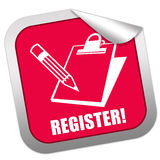 Register sticker stock illustration