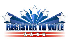 Register to vote illustration design Stock Images