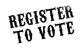 Register To Vote rubber stamp Royalty Free Stock Photos