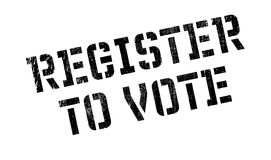 Register To Vote rubber stamp Royalty Free Stock Images