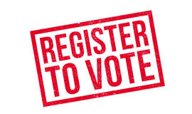 Register To Vote rubber stamp Stock Photos