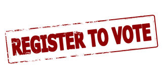 Register to vote Royalty Free Stock Images