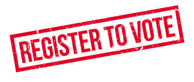 Register to vote rubber stamp Stock Photo