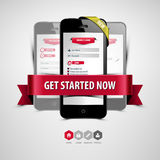 Register und Anmeldung von Ihrem Smartphone Lizenzfreie Abbildung