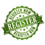 Register vector stamp Stock Image