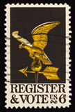 Register and Vote Postal Stamp 2 Stock Photo