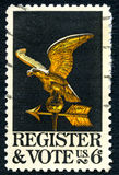 Register and Vote US Postage Stamp Royalty Free Stock Photos