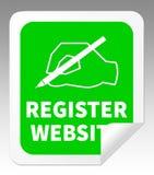 Register-Website, die Illustration der Gebiets-Anwendungs-3d anzeigt lizenzfreie abbildung