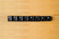 Register word. With keyboard buttons Stock Image
