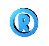 Registered. 3D render of the registered symbol Royalty Free Stock Image