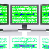 Registered Monitors Means Signed Up Or Patented Royalty Free Stock Photo