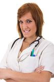 Registered nurse. Proudly wearing uniform with stethoscope Stock Photos