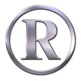 Registered sign. 3D bevel registered sign illustration Stock Images