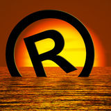 Registered Symbol Sinking Meaning Piracy Royalty Free Stock Image