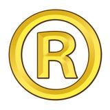 Registered Trade Mark. 3D golden icon Stock Photo