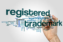 Registered trademak word cloud Royalty Free Stock Photos
