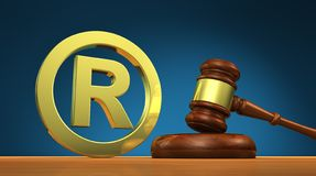 Registered Trademark Business Law Symbol royalty free stock photo