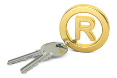 Registered Trademark concept,  3D rendering Royalty Free Stock Image