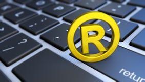 Registered Trademark Symbol Computer Keyboard royalty free stock photo