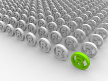 Registered trademark symbols. Beautiful green 3d registered trademark symbols Royalty Free Stock Photo