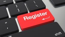 Registerknopfkonzept lizenzfreie abbildung
