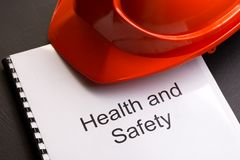 Registo da saúde e da segurança Fotografia de Stock