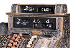 Registo de dinheiro. Imagem de Stock